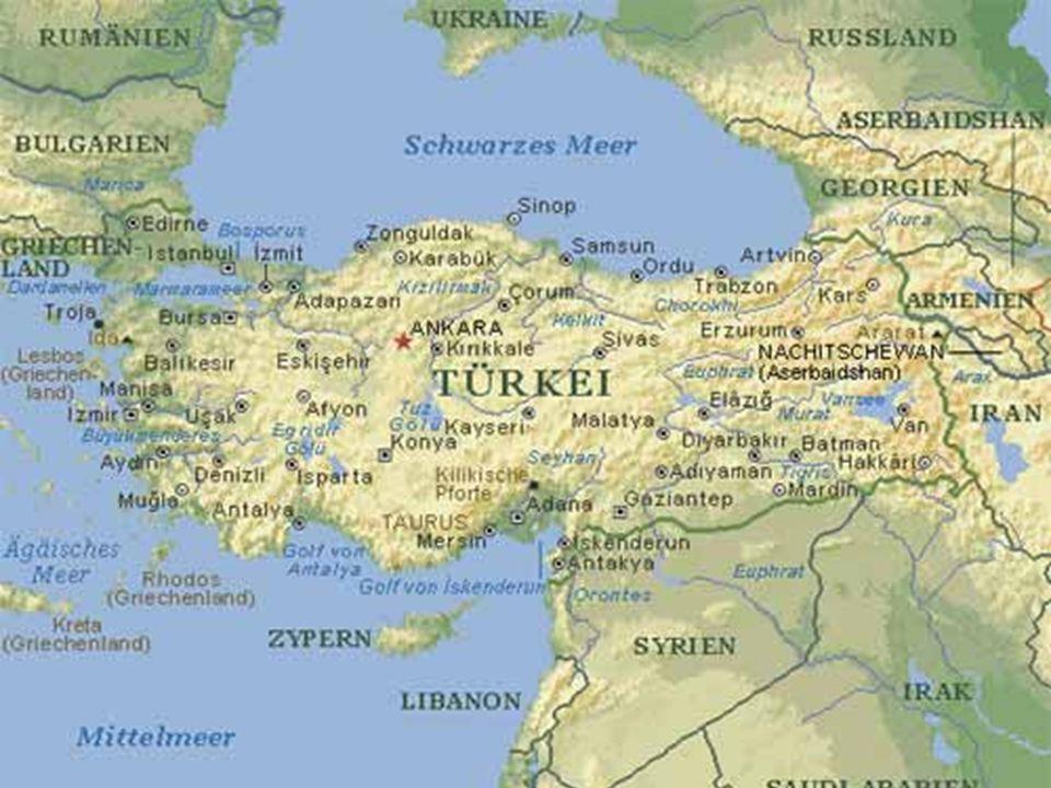 Angrenzende Länder Griechenland Griechenland Georgien Georgien Armenien Armenien Aserbaidschan Aserbaidschan Iran Iran Irak Irak Syrien Syrien Mitglied der EU