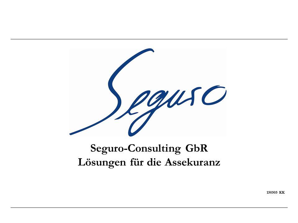 Seguro-Consulting GbR Lösungen für die Assekuranz Wir danken für Ihre Aufmerksamkeit Konrad Krug Senior- Partner Tel.: + 49 6236-4268-44 konrad.krug@seguro-consulting.de http://www.seguro-consulting.de