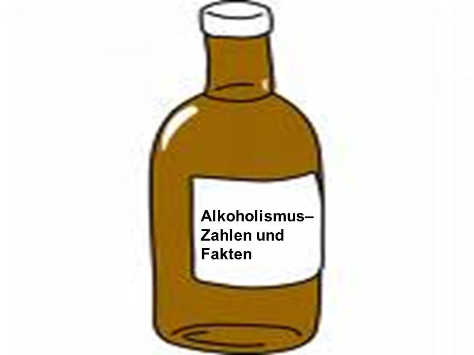 Alkoholismus– Zahlen und Fakten