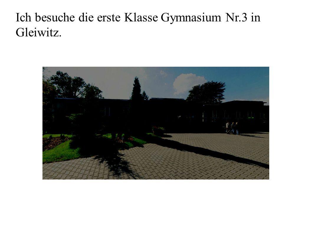 Ich besuche die erste Klasse Gymnasium Nr.3 in Gleiwitz.