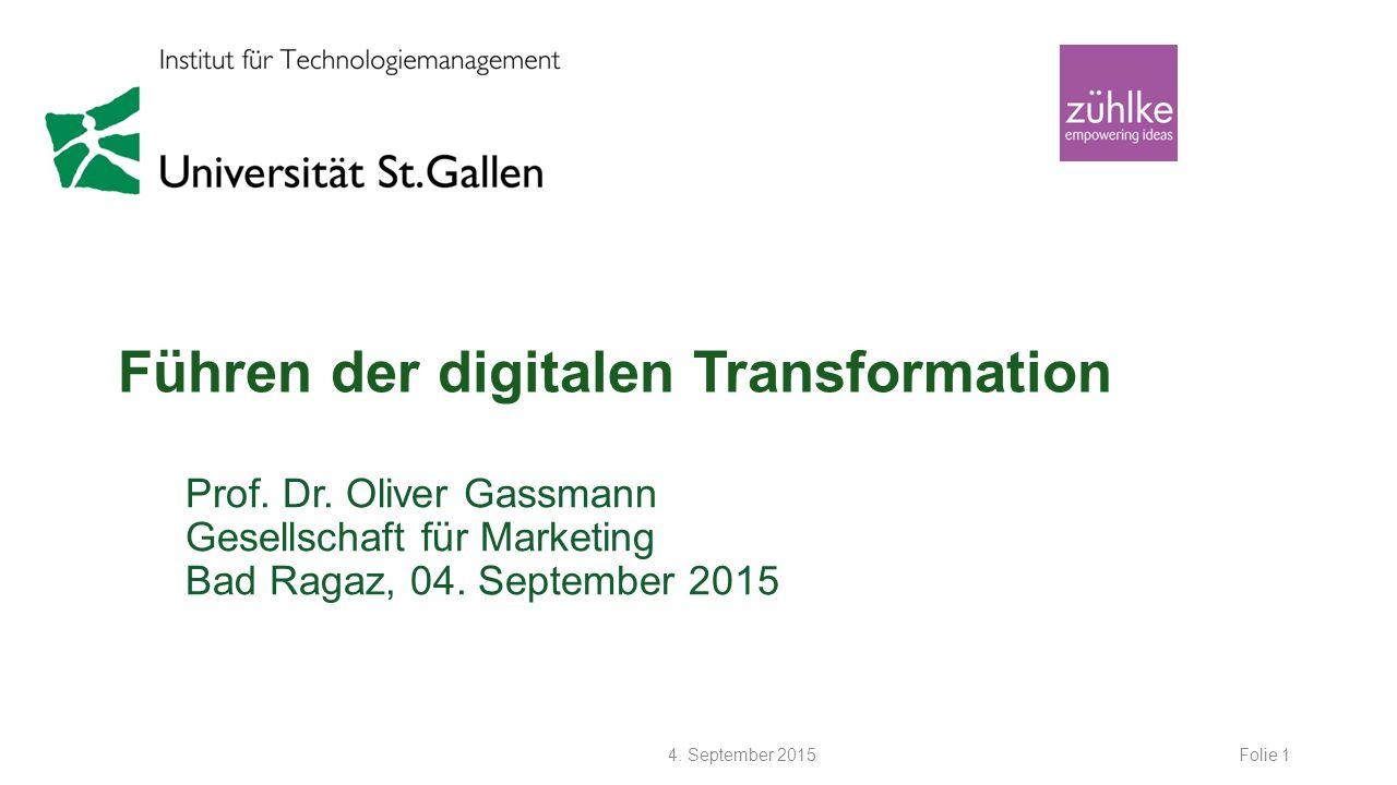 Führen der digitalen Transformation Prof.Dr.