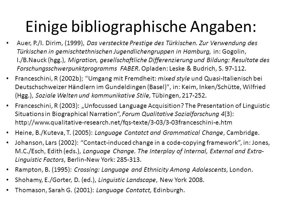 Auer, P./I.Dirim, (1999), Das versteckte Prestige des Türkischen.