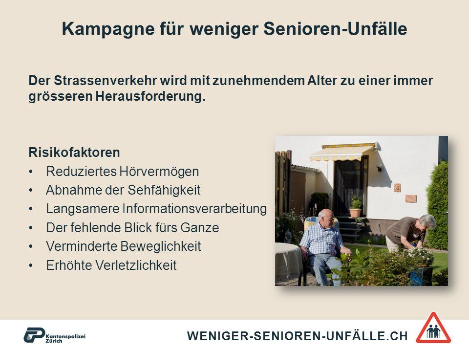 Kampagne für weniger Senioren-Unfälle Zielpublikum Gemeinsam zu mehr Sicherheit.