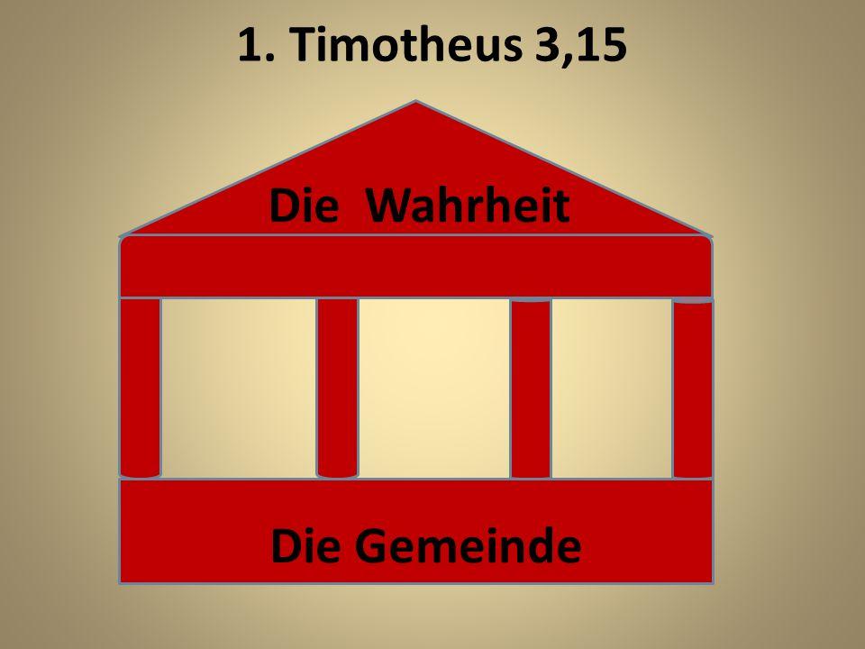 1.Tim. 3,1-13: Voraussetzungen für Aufseher und Diakone Die Aufseher bzw.