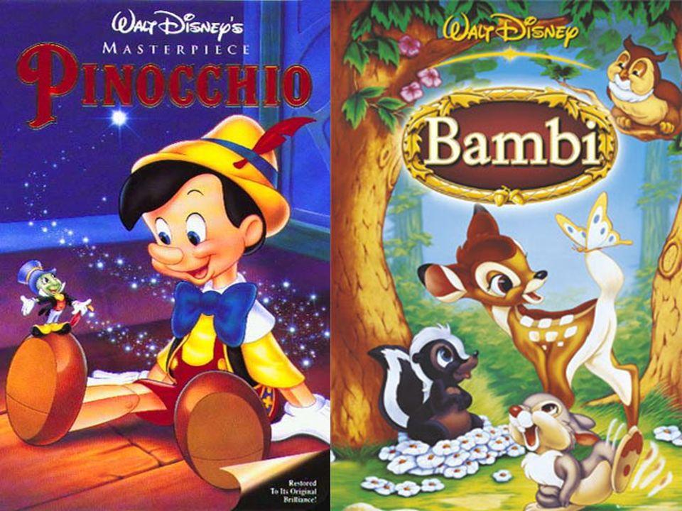 Weitere Filmproduktionen Fantasia Pinocchio Dumbo Bambi  Walt Disney ernannte ihn später als seinen persönlichen Lieblingsfilm Diese ersten Erfolge s