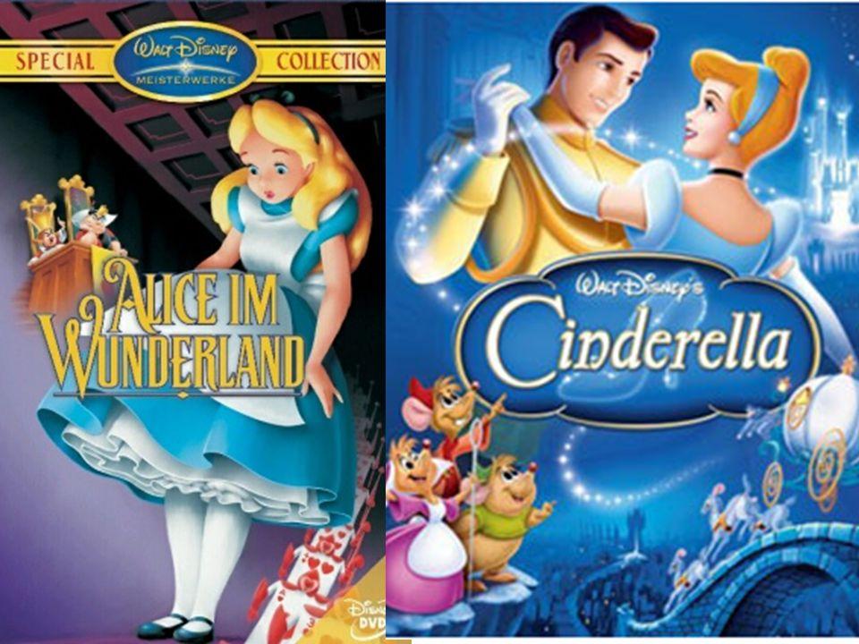 Spiel- und Dokumentarfilme Nach Zweiten Weltkrieg  zahlreiche Abenteuerfilme: Cinderella Alice im Wunderland Dornröschen Dokumentarfilmen waren auch