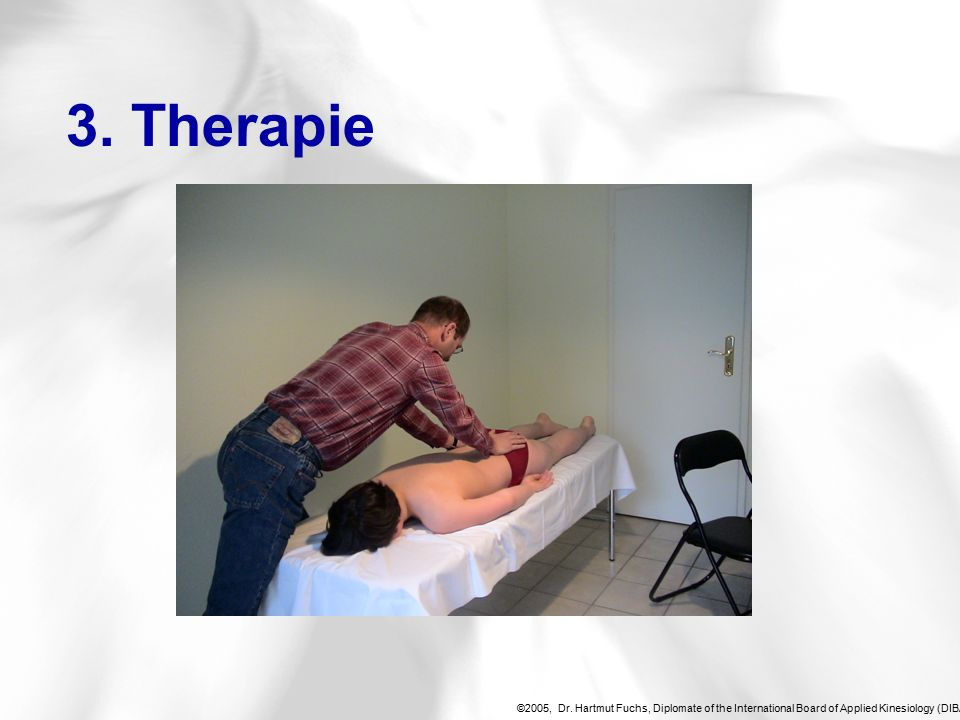 ©2005, Dr. Hartmut Fuchs, Diplomate of the International Board of Applied Kinesiology (DIBAK), 3.