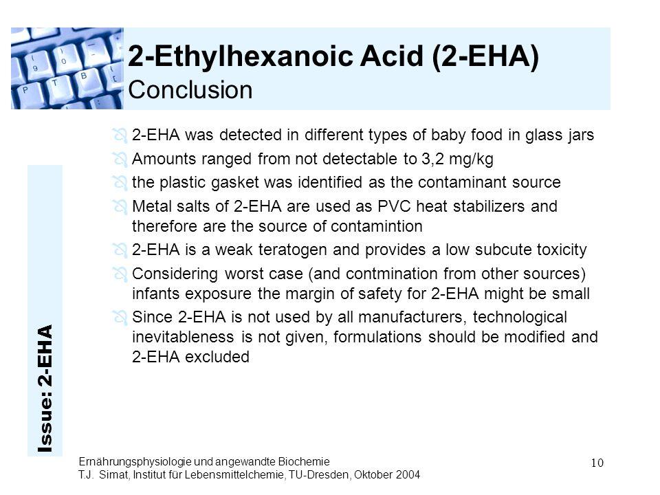 Issue: 2-EHA Ernährungsphysiologie und angewandte Biochemie T.J.