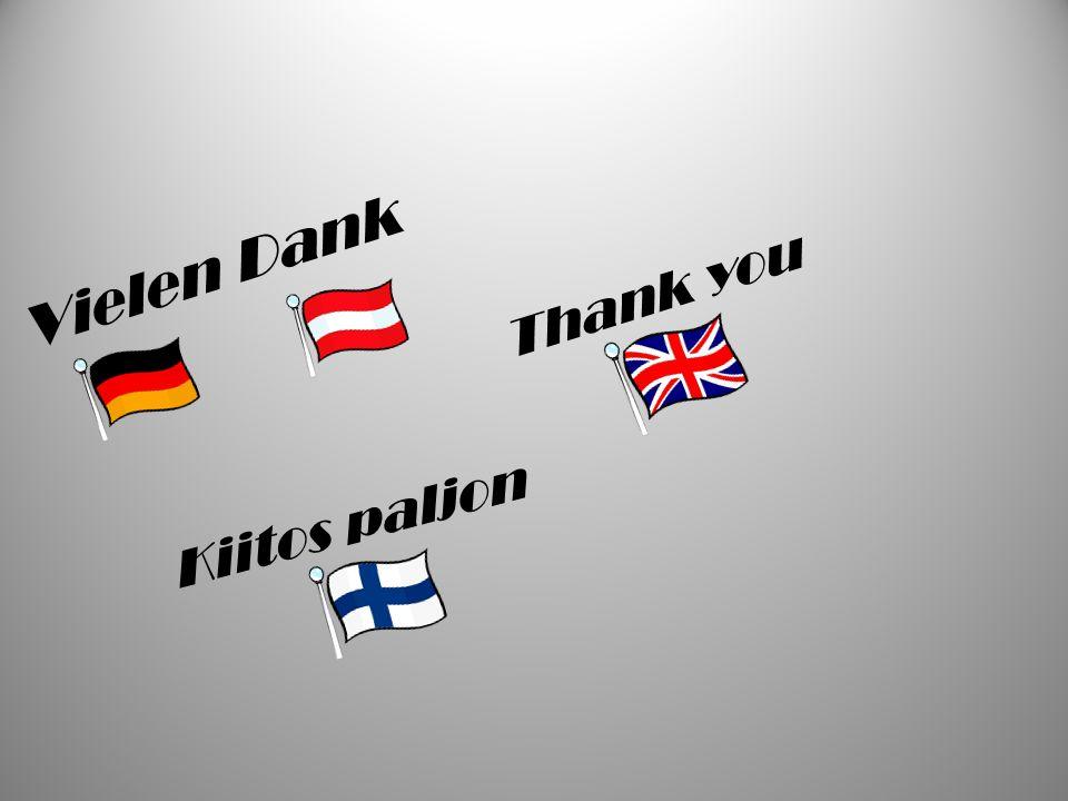Kiitos paljon Vielen Dank Thank you