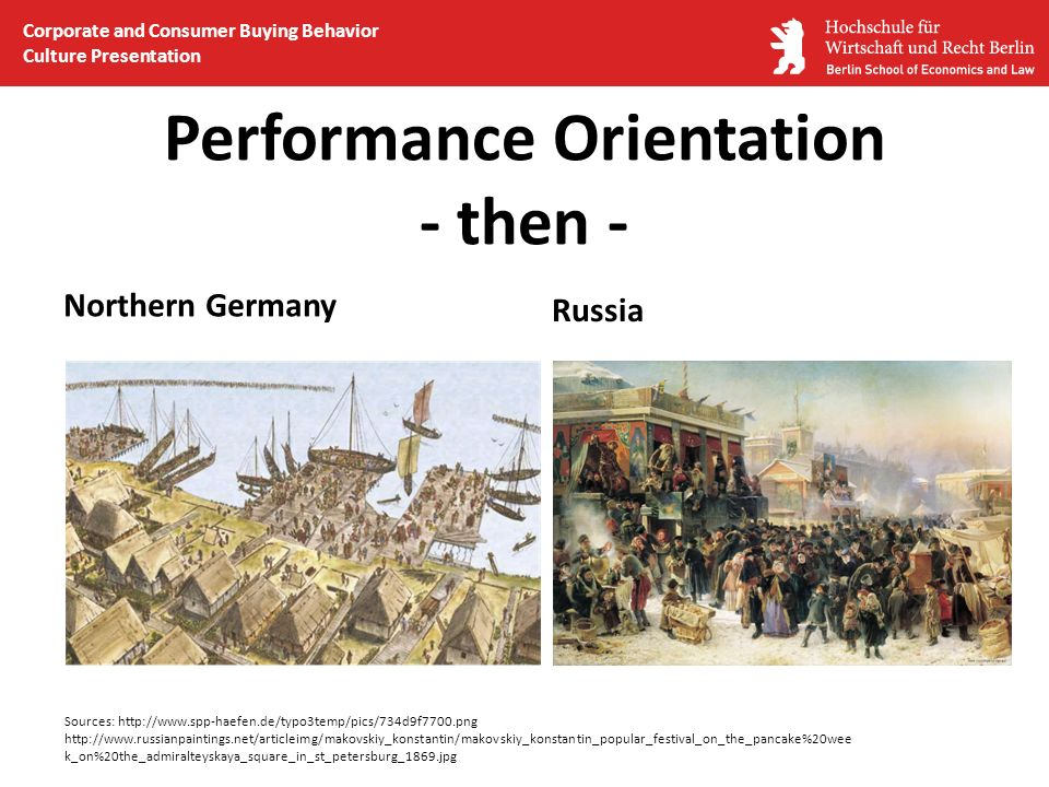 Performance Orientation - then - Northern Germany Russia Sources: http://www.spp-haefen.de/typo3temp/pics/734d9f7700.png http://www.russianpaintings.n