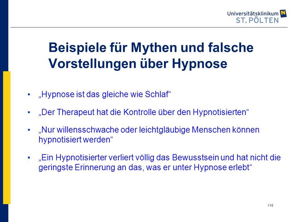 """116 Beispiele für Mythen und falsche Vorstellungen über Hypnose ▪""""Hypnose ist das gleiche wie Schlaf"""" ▪""""Der Therapeut hat die Kontrolle über den Hypno"""