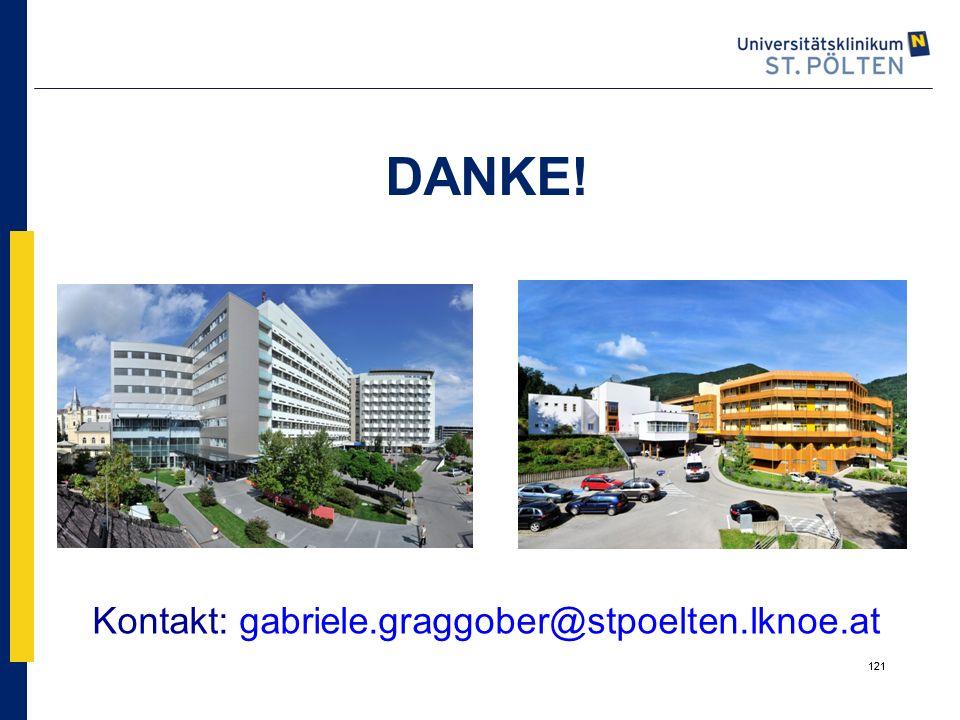 121 DANKE! Kontakt: gabriele.graggober@stpoelten.lknoe.at