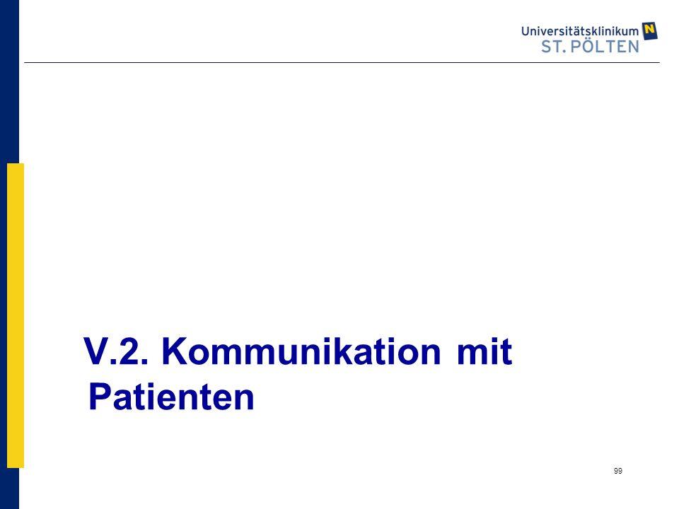 99 V.2. Kommunikation mit Patienten