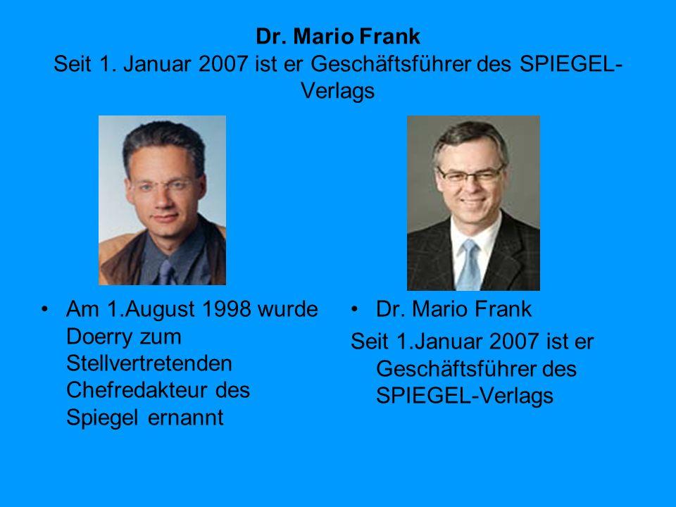 Dr.Mario Frank Seit 1.
