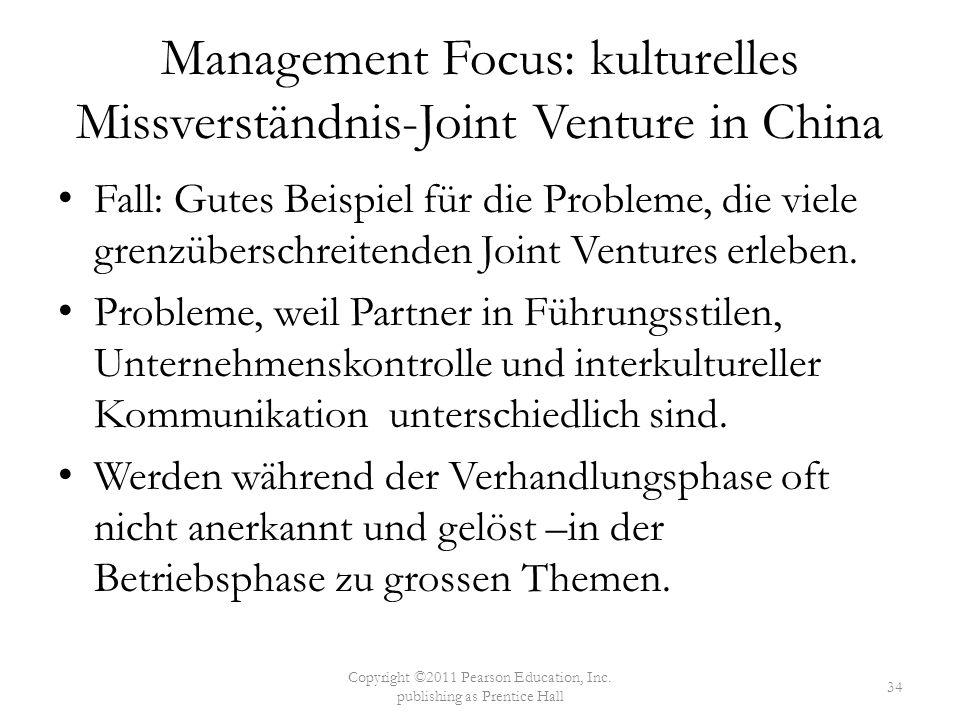 Management Focus: kulturelles Missverständnis-Joint Venture in China Fall: Gutes Beispiel für die Probleme, die viele grenzüberschreitenden Joint Vent