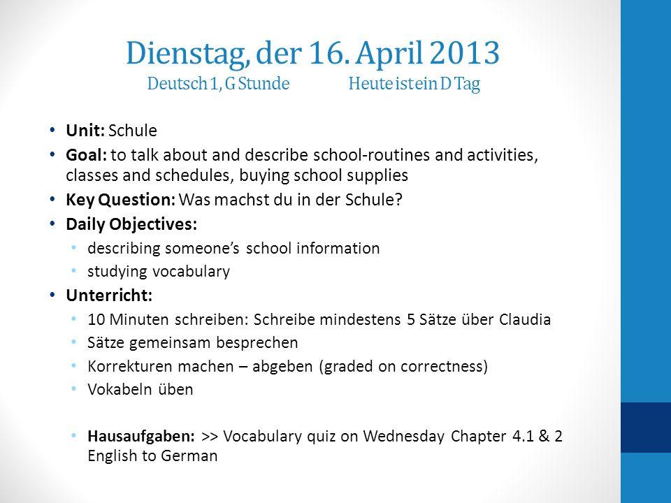 Seite 112 # 2 & # 3 Wie heißt Claudias Schule.Wie kommt Claudia zur Schule.