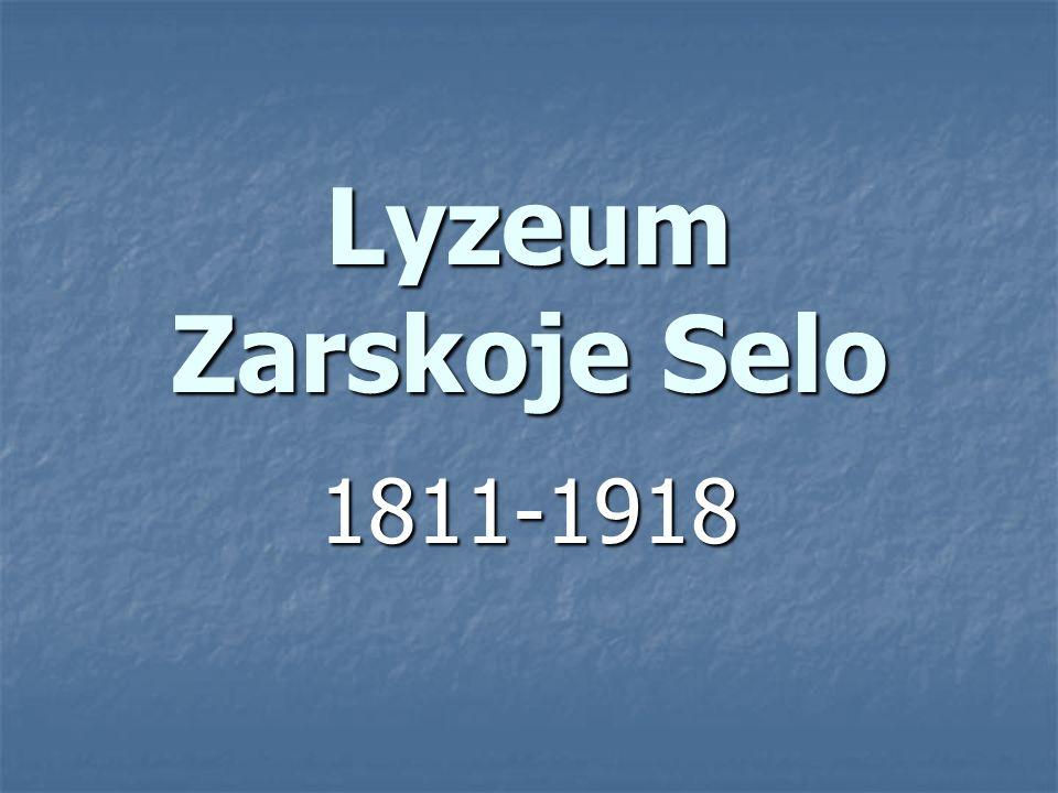 Lyzeum Zarskoje Selo 1811-1918