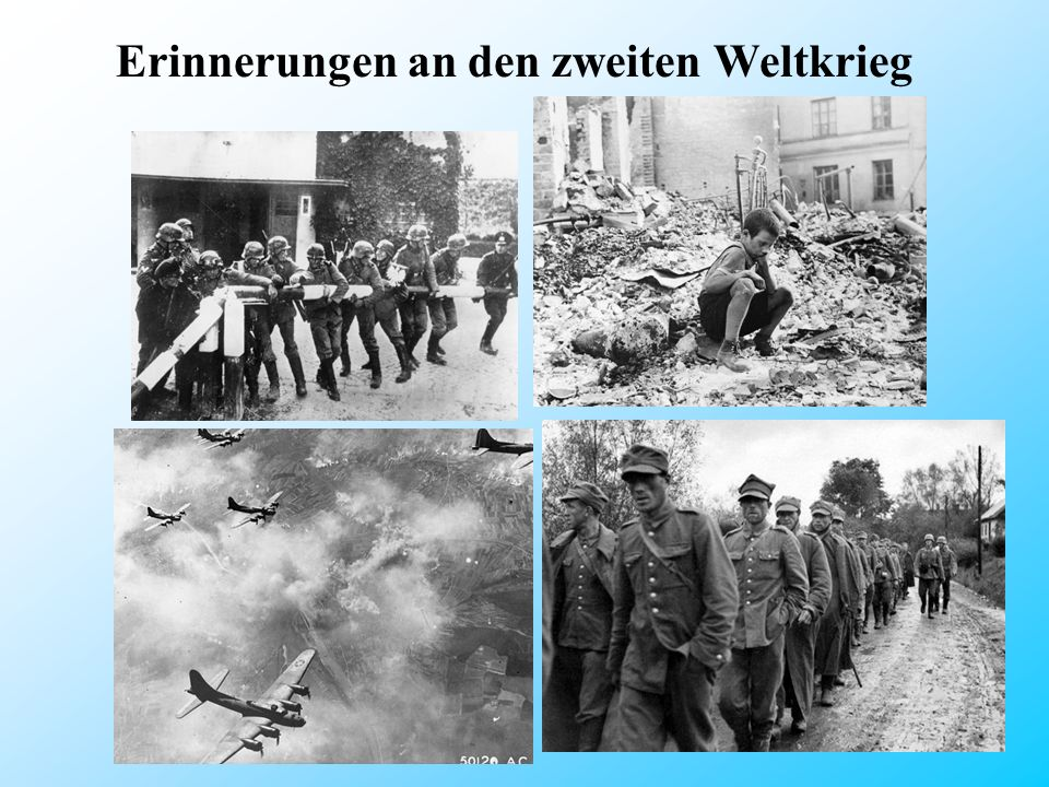 Als der Krieg anfing waren meine Großeltern kleine Kinder, und daher erinnern sich nicht an zu viele Ereignisse aus dieser Zeit.