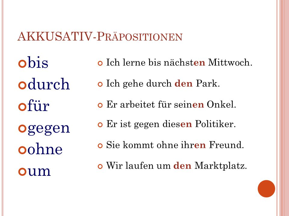P REPOSITIONS WITH DATIVE aus außer bei gegenüber mitnachseitvonzu out of / from besides / except near/at/at the house of opposite with to / after since / for from / by / of / about to