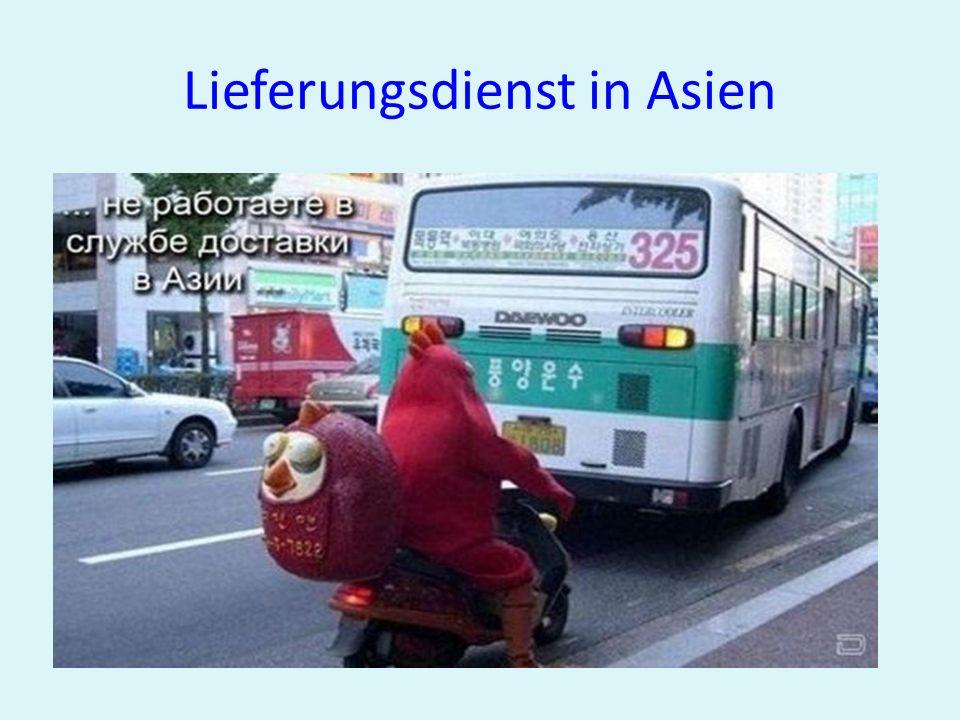 Lieferungsdienst in Asien