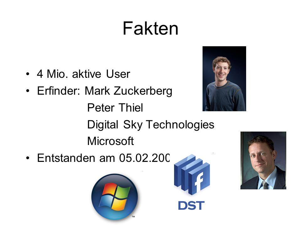 Quellen http://www.stern.de/digital/online/selbstmord-nach-cyber-mobbing-1510308.html http://de.wikipedia.org/wiki/Facebook http://www.vol.at/news/tp:vol:vorarlberg/artikel/facebook---gefahr-der- datenspionage/cn/news-20090224-07050547http://www.vol.at/news/tp:vol:vorarlberg/artikel/facebook---gefahr-der- datenspionage/cn/news-20090224-07050547 http://patrickseabird.blogspot.com/2009/12/die-gefahren-von-facebook.html www.facebook.com