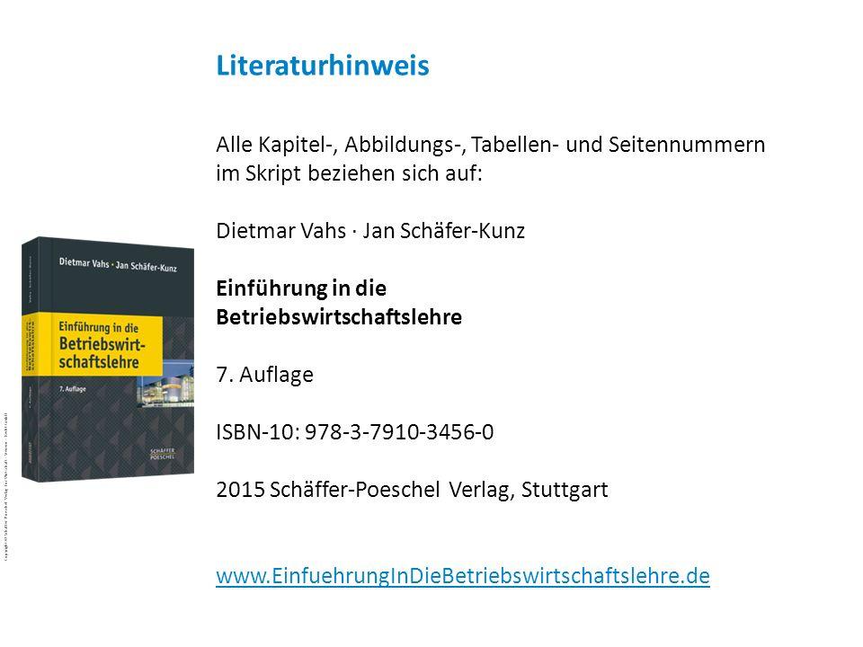 Copyright © 2011 Schäffer-Poeschel Verlag für Wirtschaft · Steuern · Recht GmbH VSK-BWL-48uIs3Rr_Copyright_Schäffer-Poeschel_Verlag Copyright © Schäff