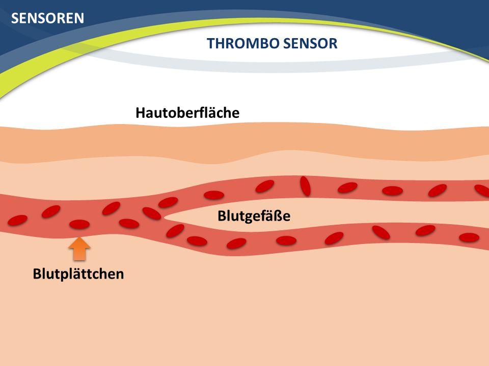 SENSOREN THROMBO SENSOR Hautoberfläche Blutgefäße Blutplättchen