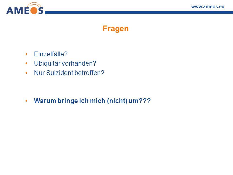 www.ameos.eu Einige Antworten Suizidalität (incl.