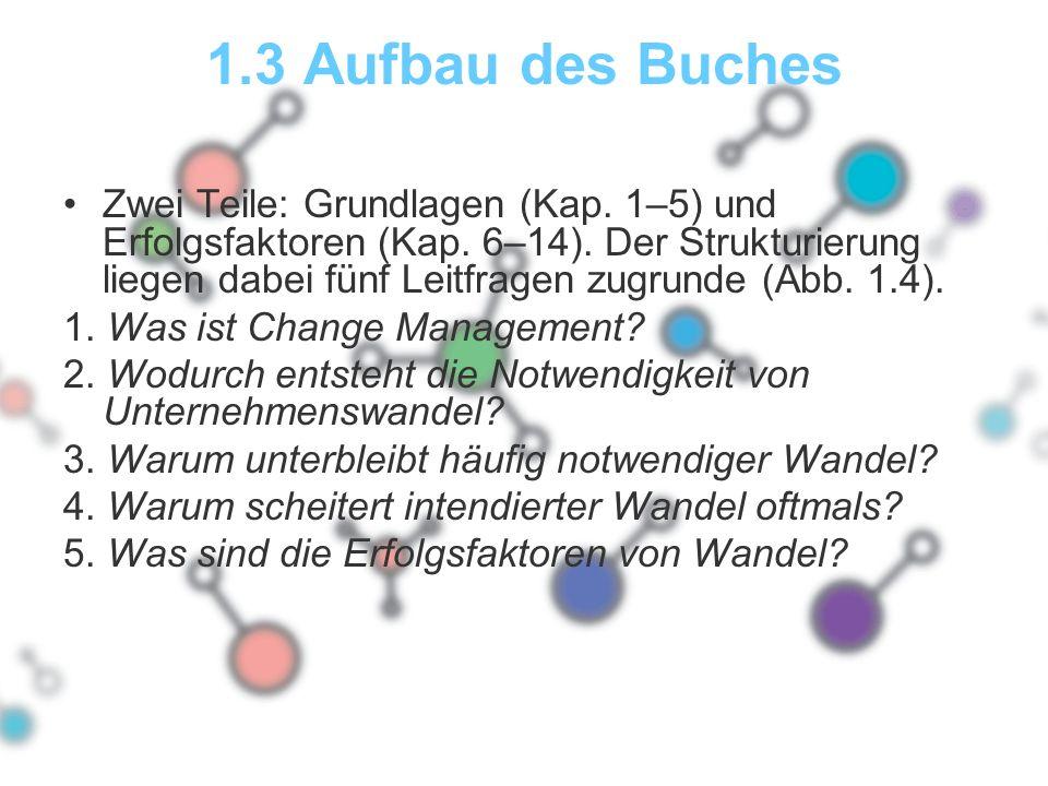 1.3 Aufbau des Buches Zwei Teile: Grundlagen (Kap.