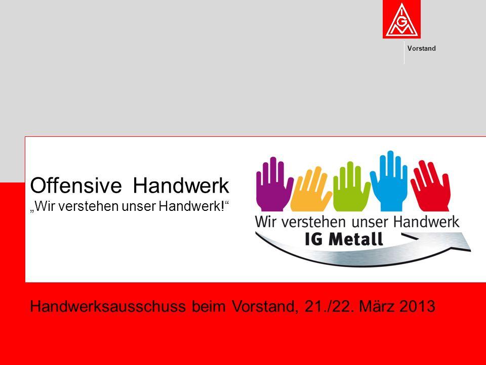 """Offensive Handwerk """"Wir verstehen unser Handwerk!"""" Vorstand Handwerksausschuss beim Vorstand, 21./22. März 2013"""