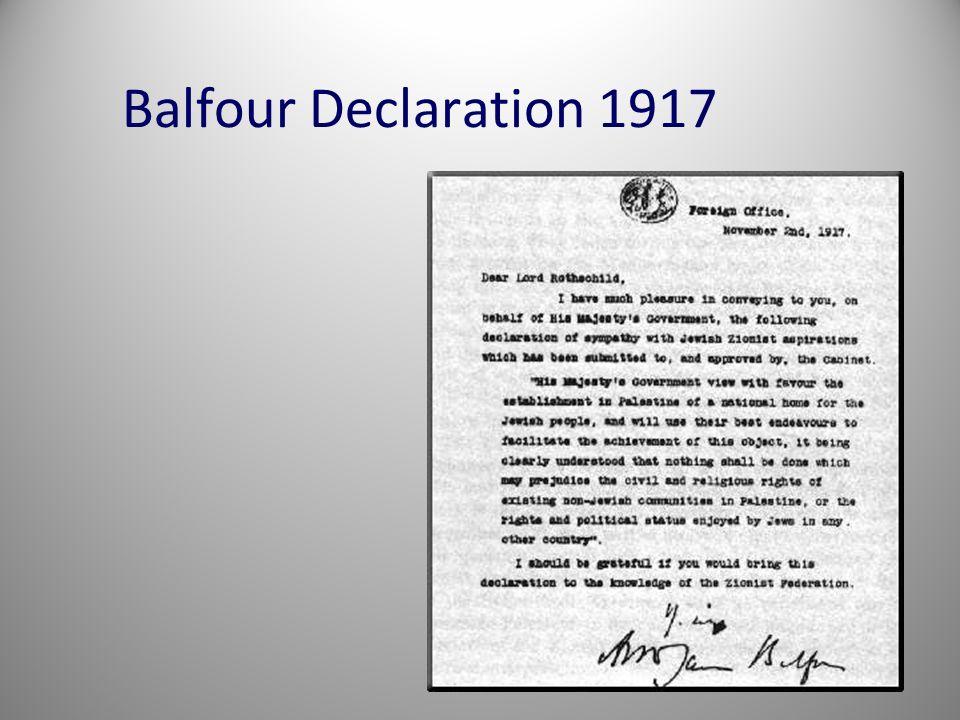 Balfour Declaration 1917