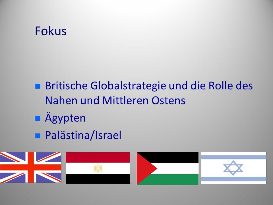 Fokus Britische Globalstrategie und die Rolle des Nahen und Mittleren Ostens Ägypten Palästina/Israel