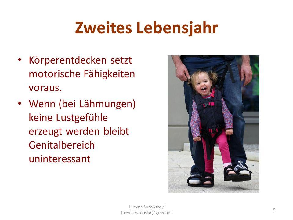 Drittes Lebensjahr bei manchen Kindern Beherrschung des Schließmuskels nicht möglich: Kontrollmöglichkeit und damit verbundener Stolz fehlt => wirkt sich aus auf Möglichkeit, Selbstbestimmung einzuüben und stabile Ich-Funktion zu erlangen.