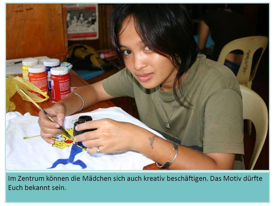 Im Zentrum können die Mädchen sich auch kreativ beschäftigen. Das Motiv dürfte Euch bekannt sein. Indien