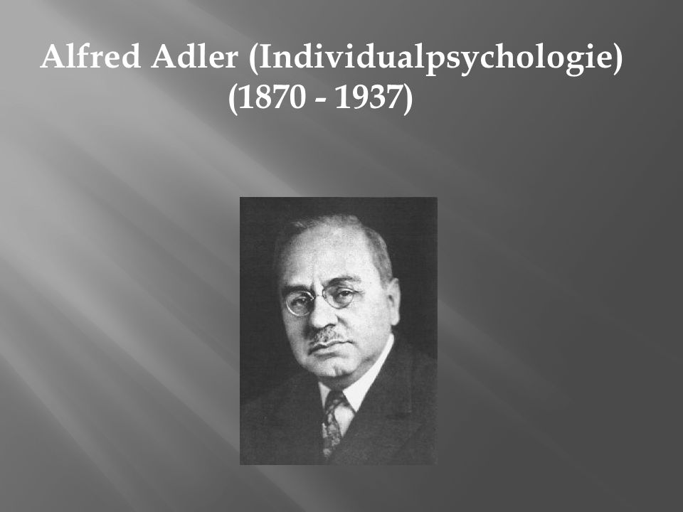 Alfred Adler (Individualpsychologie) (1870 - 1937)