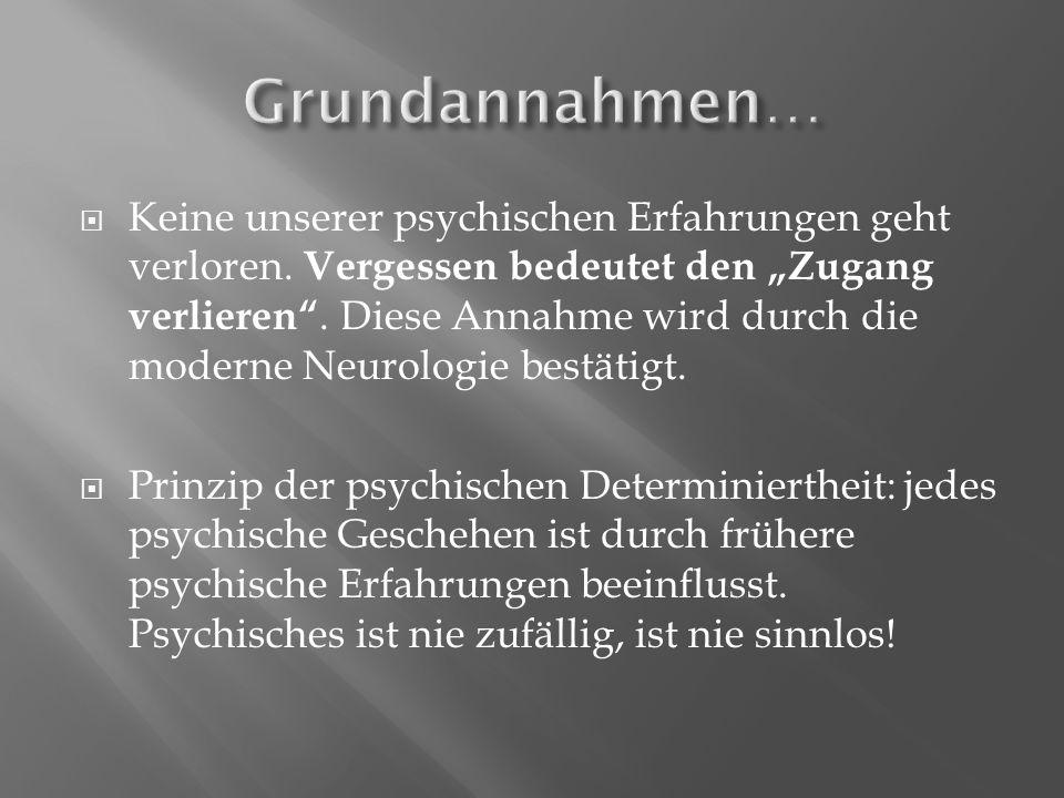  Keine unserer psychischen Erfahrungen geht verloren.