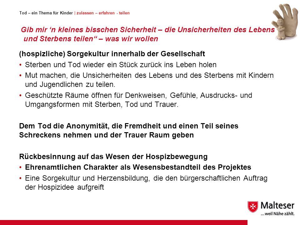 Tod – ein Thema für Kinder   zulassen – erfahren - teilen Fachtagung 14.06.2014  28 Lehrerin nach dem Projekt in der 4.