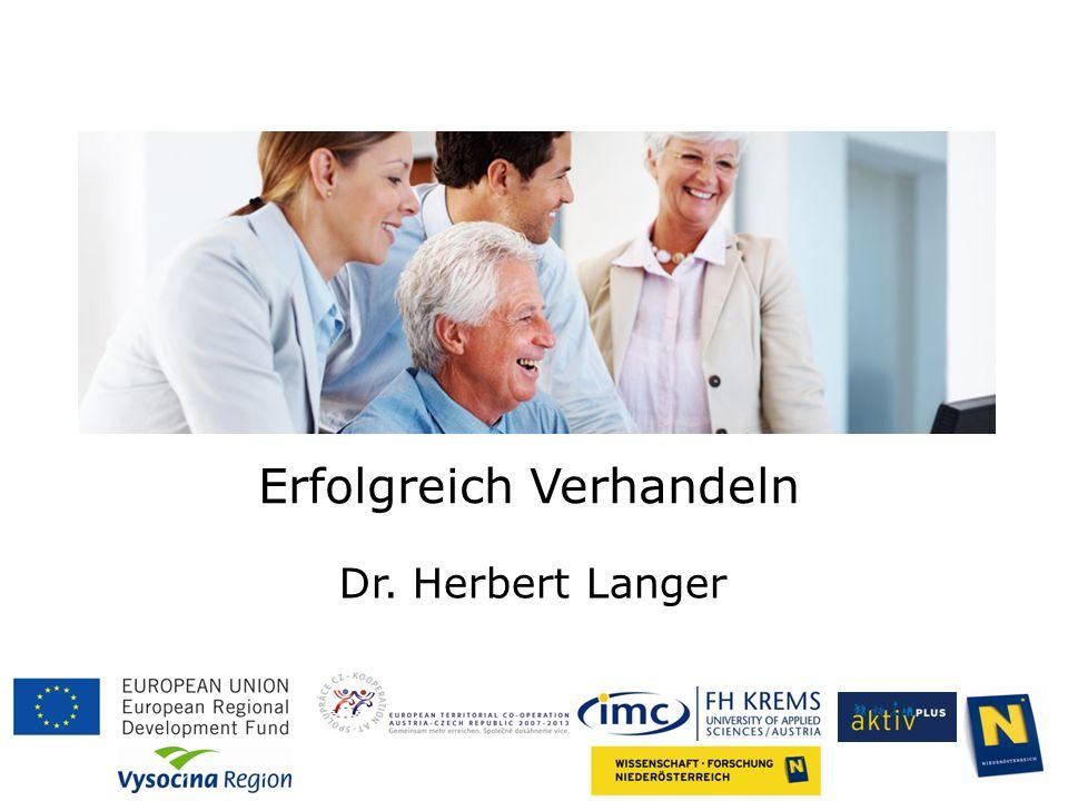 Erfolgreich Verhandeln Dr. Herbert Langer
