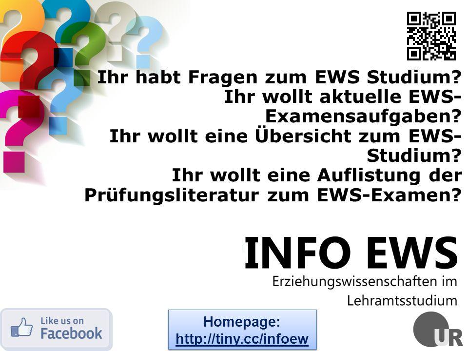 Ihr habt Fragen zum EWS Studium.Ihr wollt aktuelle EWS- Examensaufgaben.