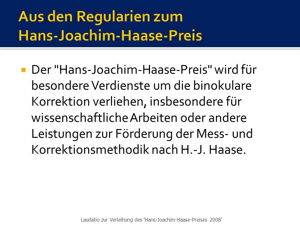  1999: Winkelfehlsichtigkeiten mit Fixationsdisparation - zur Theorie der Fixations- disparation und zur Funktionsweise der notwendigen Teste für die Ermittlung der binokularen Vollkorrektion ▪ Bearbeitung, gemeinsam mit Hans-Joachim Haase: Dr.