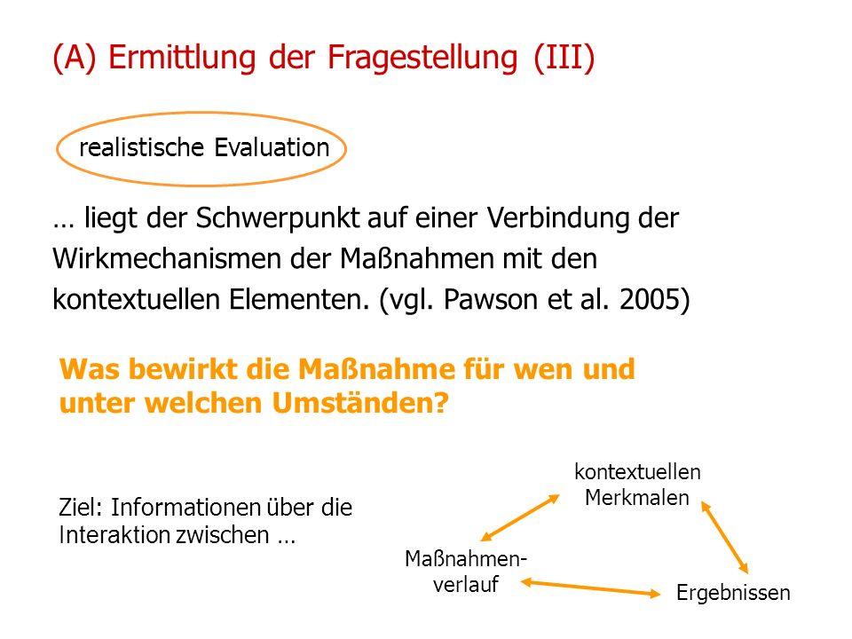 14/15 01 2010 UPH / Modul E Neuhold Christine realistische Evaluation … liegt der Schwerpunkt auf einer Verbindung der Wirkmechanismen der Maßnahmen m