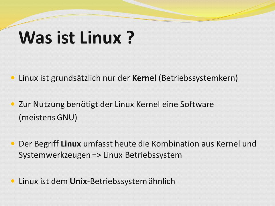 Was ist Linux .