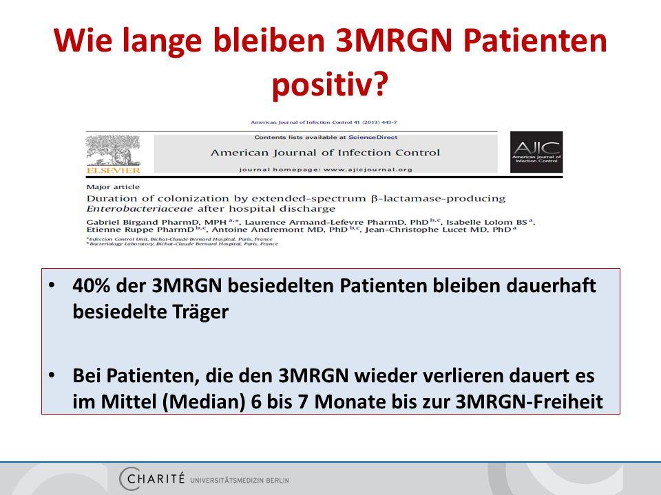 Wie lange bleiben 3MRGN Patienten positiv.
