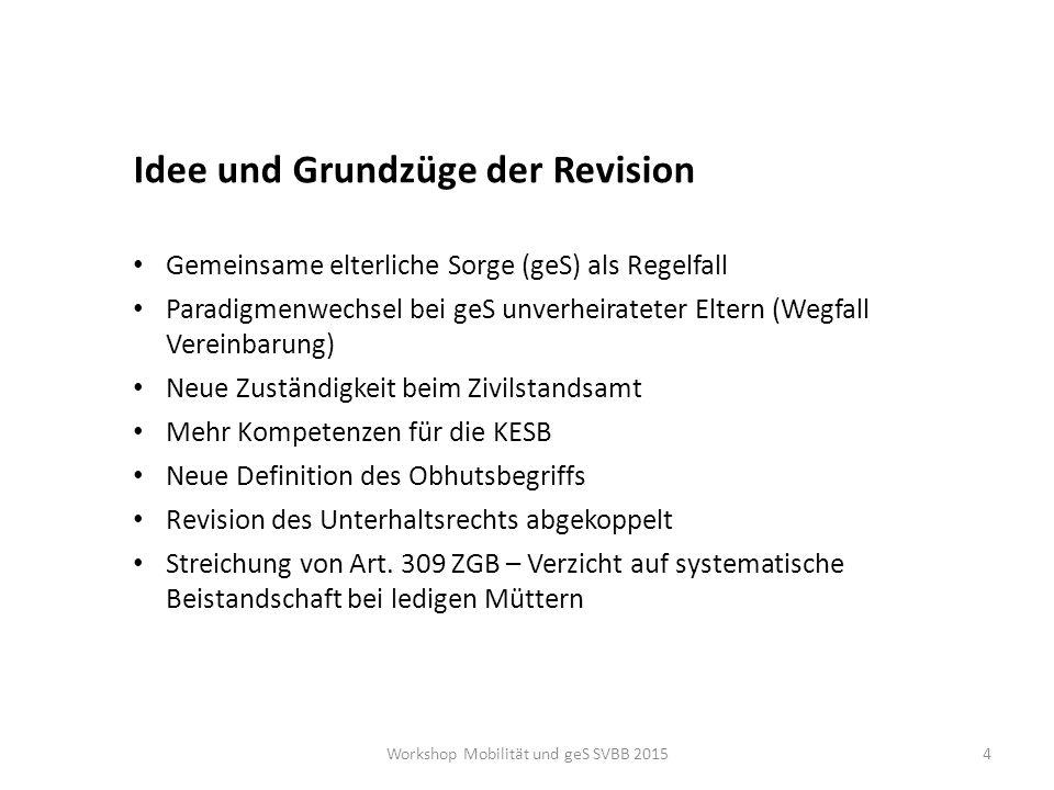 Mitbestimmung Art.301a Elterliche Sorge Art. 301 ff.
