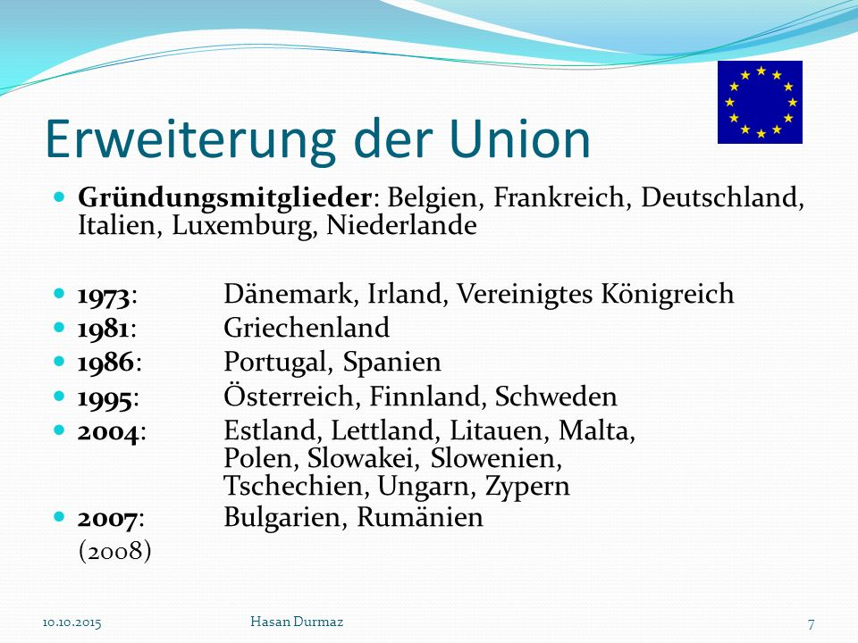Die 4 Freiheiten der EU Waren Dienstleistungen Kapital Personen 10.10.2015Hasan Durmaz8