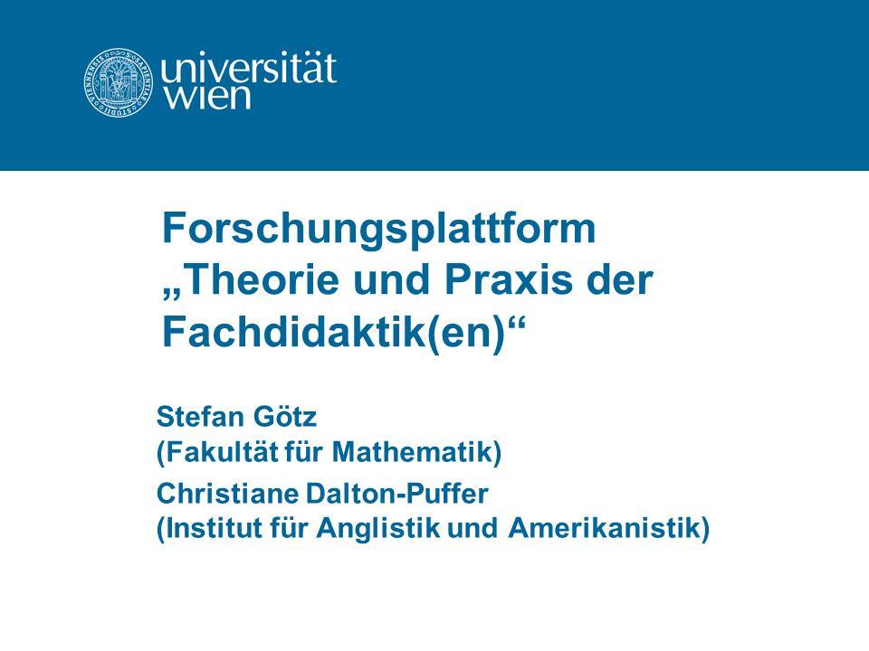 Was will die FP Theorie und Praxis der Fachdidaktiken.