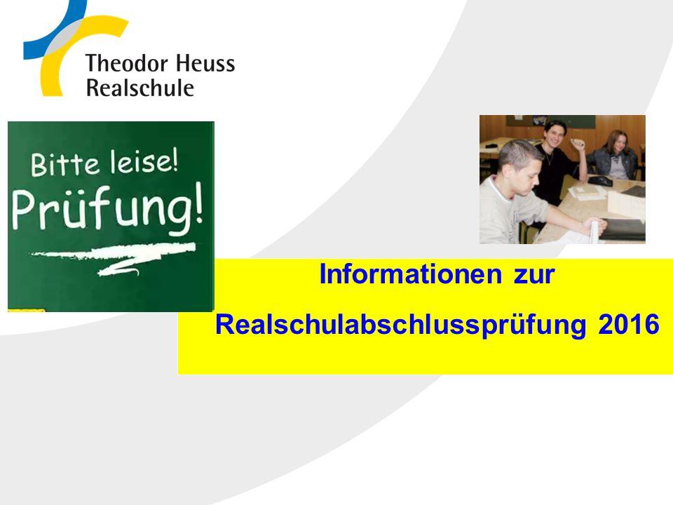 Die Realschule in Baden-Württemberg 10.10.2015 Informationen zur Realschulabschlussprüfung 2016