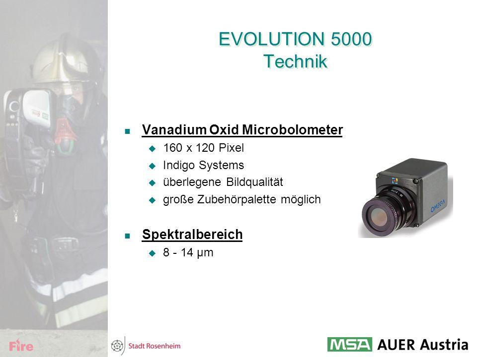 EVOLUTION 5000 Technik Vanadium Oxid Microbolometer  160 x 120 Pixel  Indigo Systems  überlegene Bildqualität  große Zubehörpalette möglich Spektr