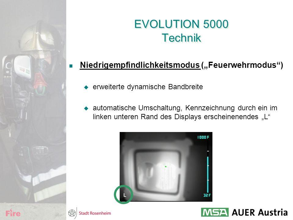 """EVOLUTION 5000 Technik Niedrigempfindlichkeitsmodus (""""Feuerwehrmodus"""")  erweiterte dynamische Bandbreite  automatische Umschaltung, Kennzeichnung du"""