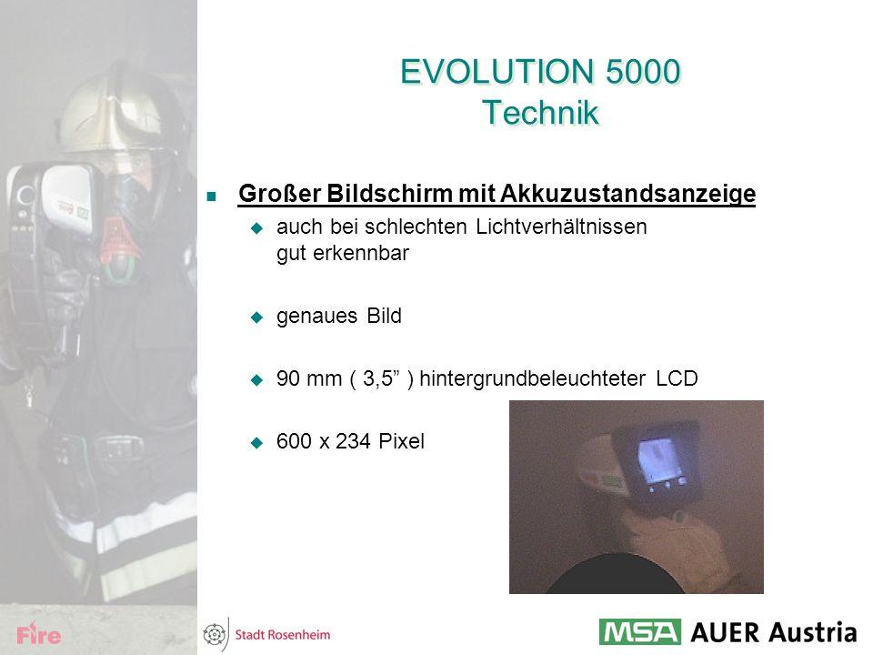 """EVOLUTION 5000 Technik Großer Bildschirm mit Akkuzustandsanzeige  auch bei schlechten Lichtverhältnissen gut erkennbar  genaues Bild  90 mm ( 3,5"""""""
